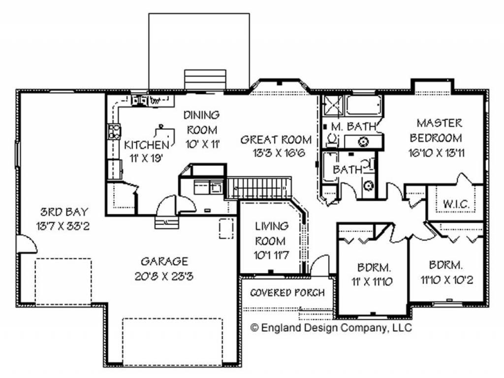 modern ranch floor plans - HD1024×768
