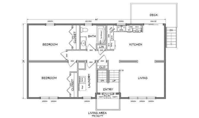 Cape Cod Modular Home Floor Plan Glenco Inc