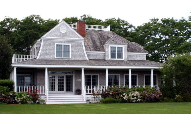 Cape Cod Style House Porch
