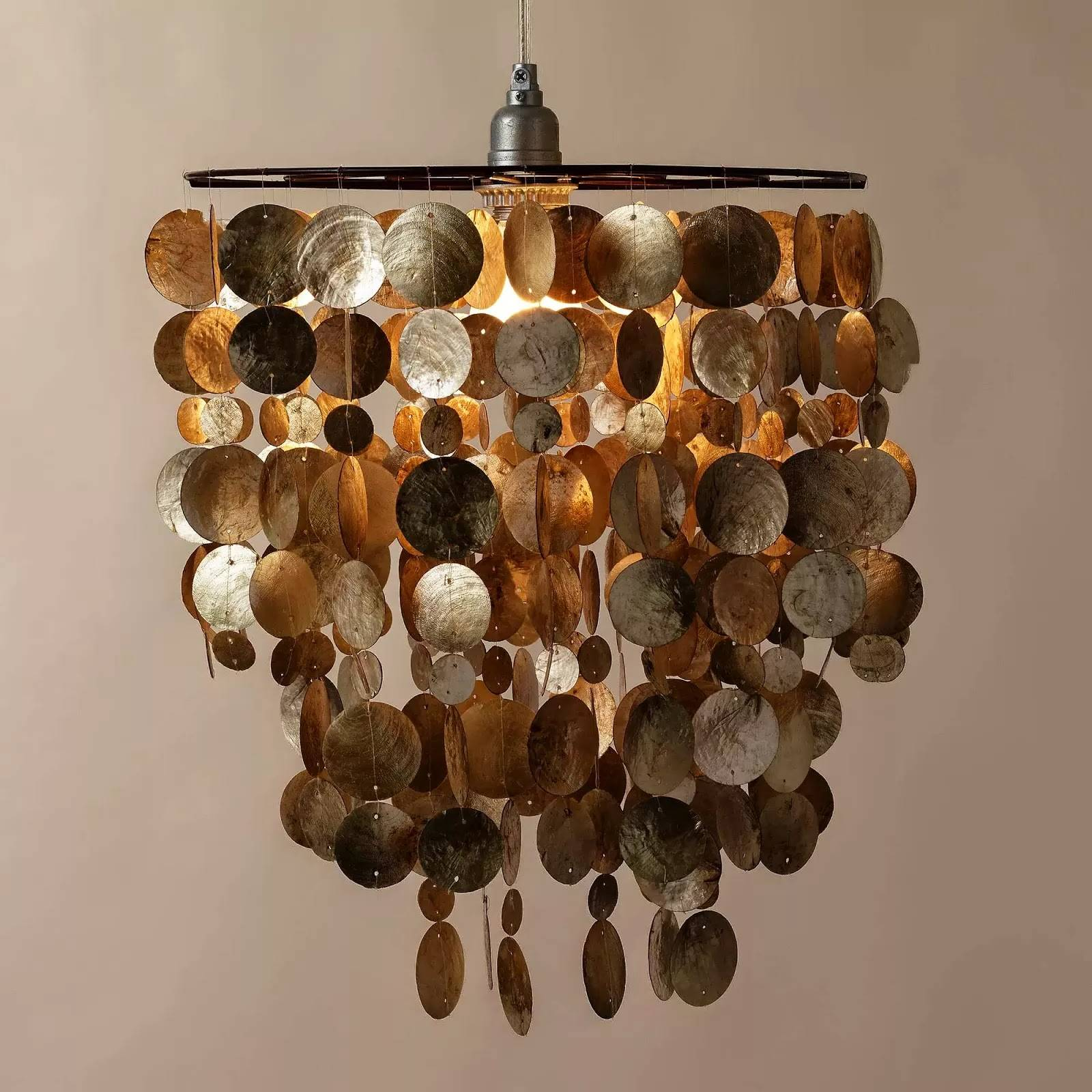 Capiz Shell Lamp Shade Home Combo