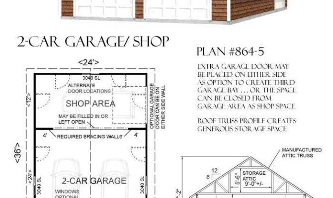 Car Attic Garage Plan Shop Back