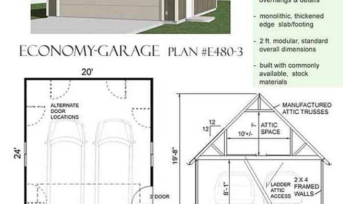 Car Economy Garage Plan Big Attic