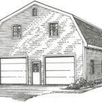 Car Gambrel Style Garage Building Plans