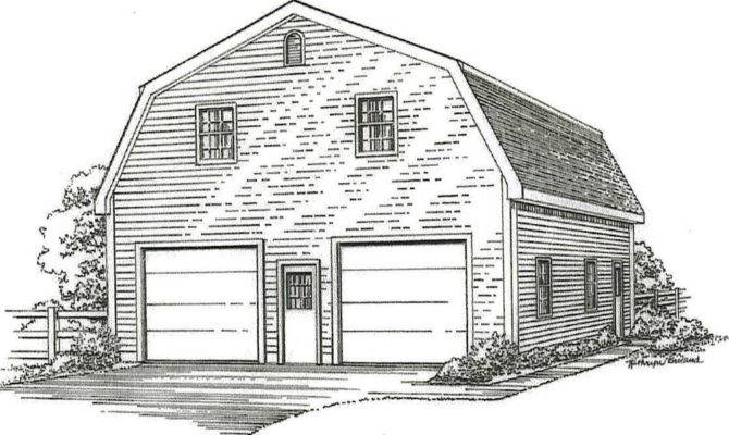 Car Gambrel Style Garage Building Plans