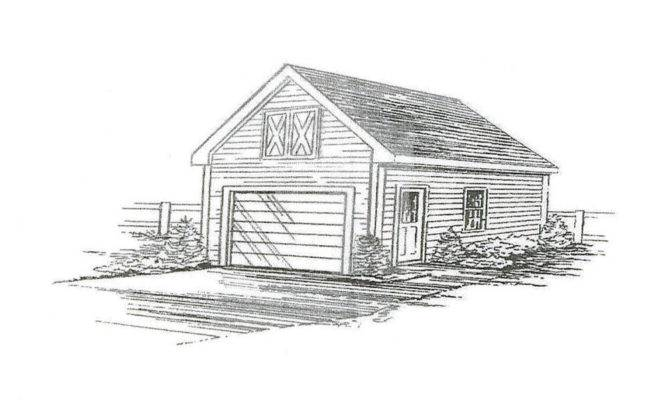 Car Garage Building Blueprint Plans Attic Ebay