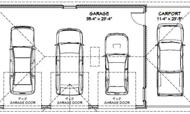 Car Garage Carport Excellent Floor Plans Building
