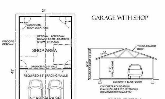 Car Garage Plan One Story Behm