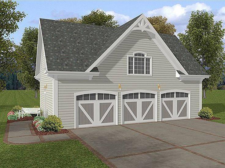 Car Garage Plans Three Loft Plan House Plans 173601