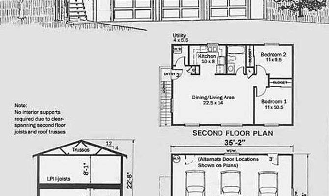 Car Story Apartment Garage Plan
