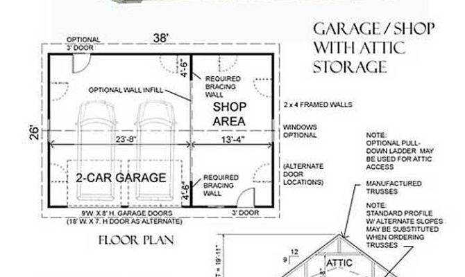 Car Suv Garage Shop Attic Plan