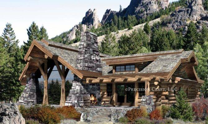 Caribou Log Home Floor Plan Precision Craft
