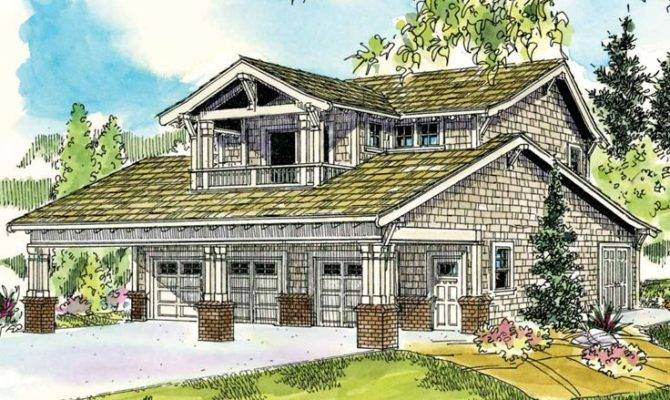Carriage House Plans Craftsman Style Garage Apartment