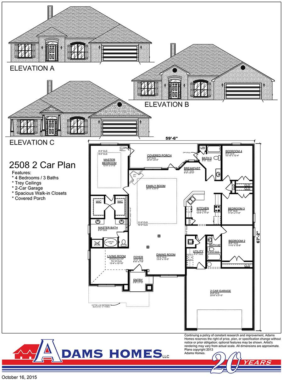 Carriage Park Adams Homes House Plans 93778