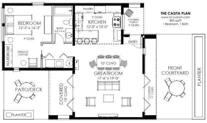 Casita House Plan Small Modern Guest