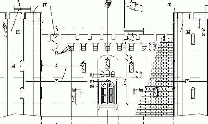 Castle Designs Blueprints Plans