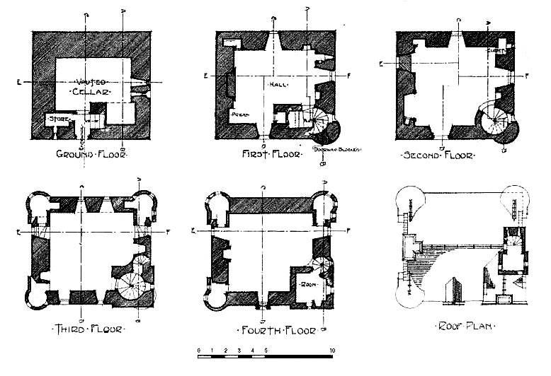 Castle House Plans Towers Floor House Plans 2577