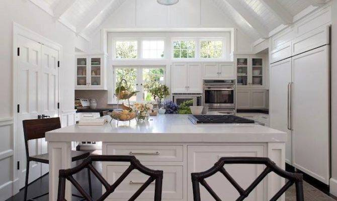 Cathedral Ceiling Kitchen Transitional Ann Lowengart