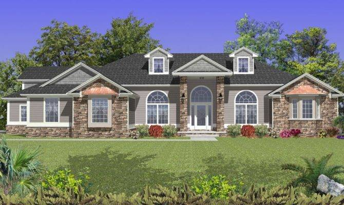 Cathedral Ceilings Front Back Coastal House Plan Alp