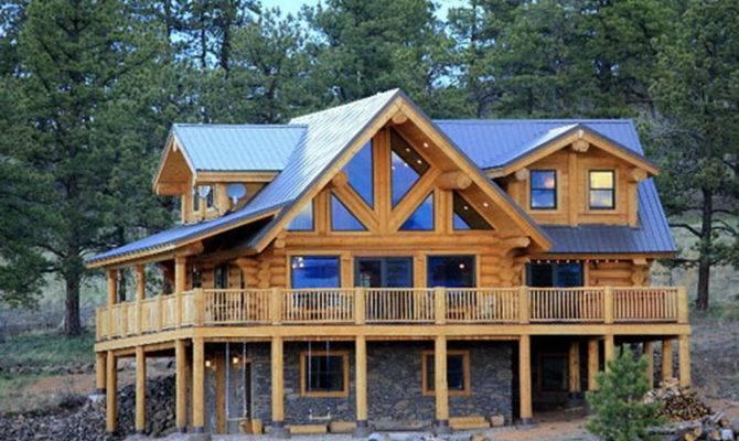 Cedar Stone Log Home Kit Homes