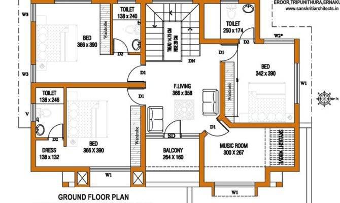 Cent Home Plan Feet Floor House Designs