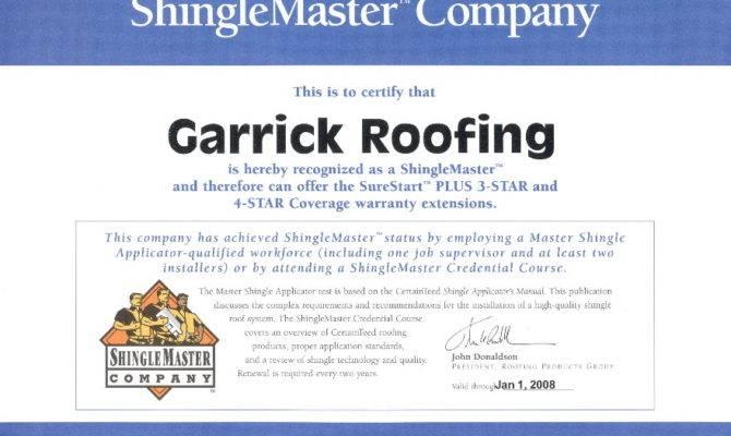 Certainteed Silver Star Shingle Master Roofing Company Houston
