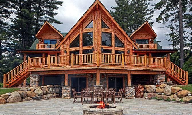 Charming Log Home Porches