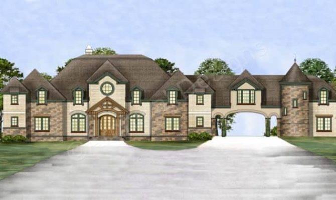 Chastain Castle House Plans Porte Cochere