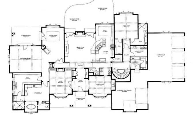 Chateau Cornas Main Level Floorplan