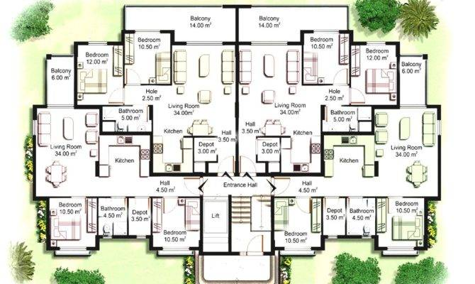 Cheap Modern Apartment Building Plans Elevations Our