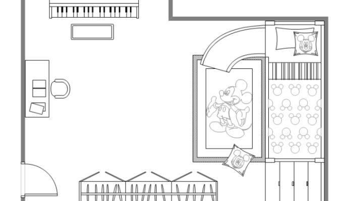 Children Bedroom Plan Templates