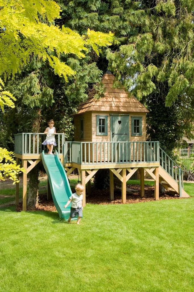 Childrens Garden Tree House Treehouses Playhouse House Plans 144863
