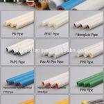 China Supplier Factory Supply Types Plastic Water Pipe