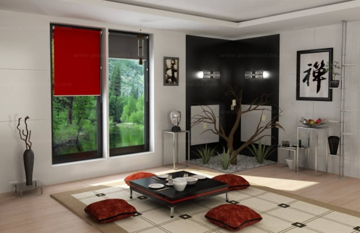 Chinese Traditional Living Room Interior Design House Plans 16988
