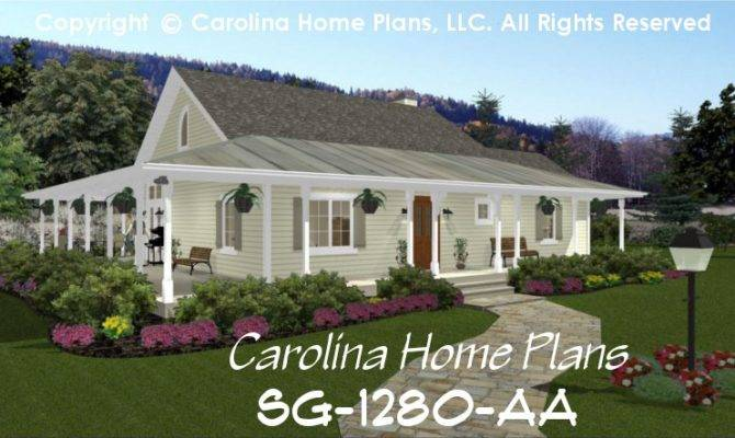 Chp Small Country Cottage House Plan Baths Story