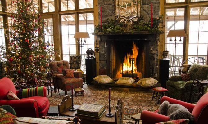 Christmas Fireplace Photos Ideas