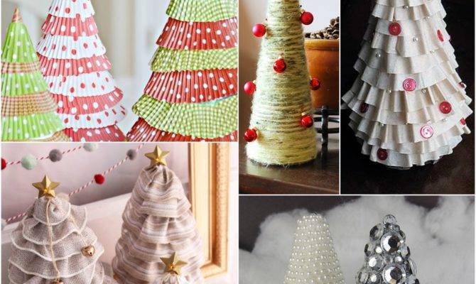 Christmas Tree Craft Ideas Diy Tabletop