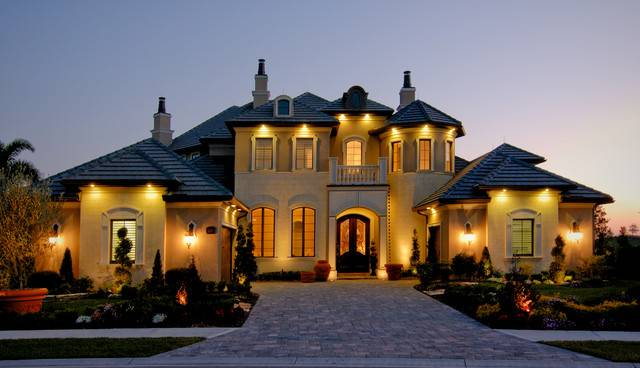 Christopher Burton Luxury Homes Mediterranean Exterior House Plans 143744