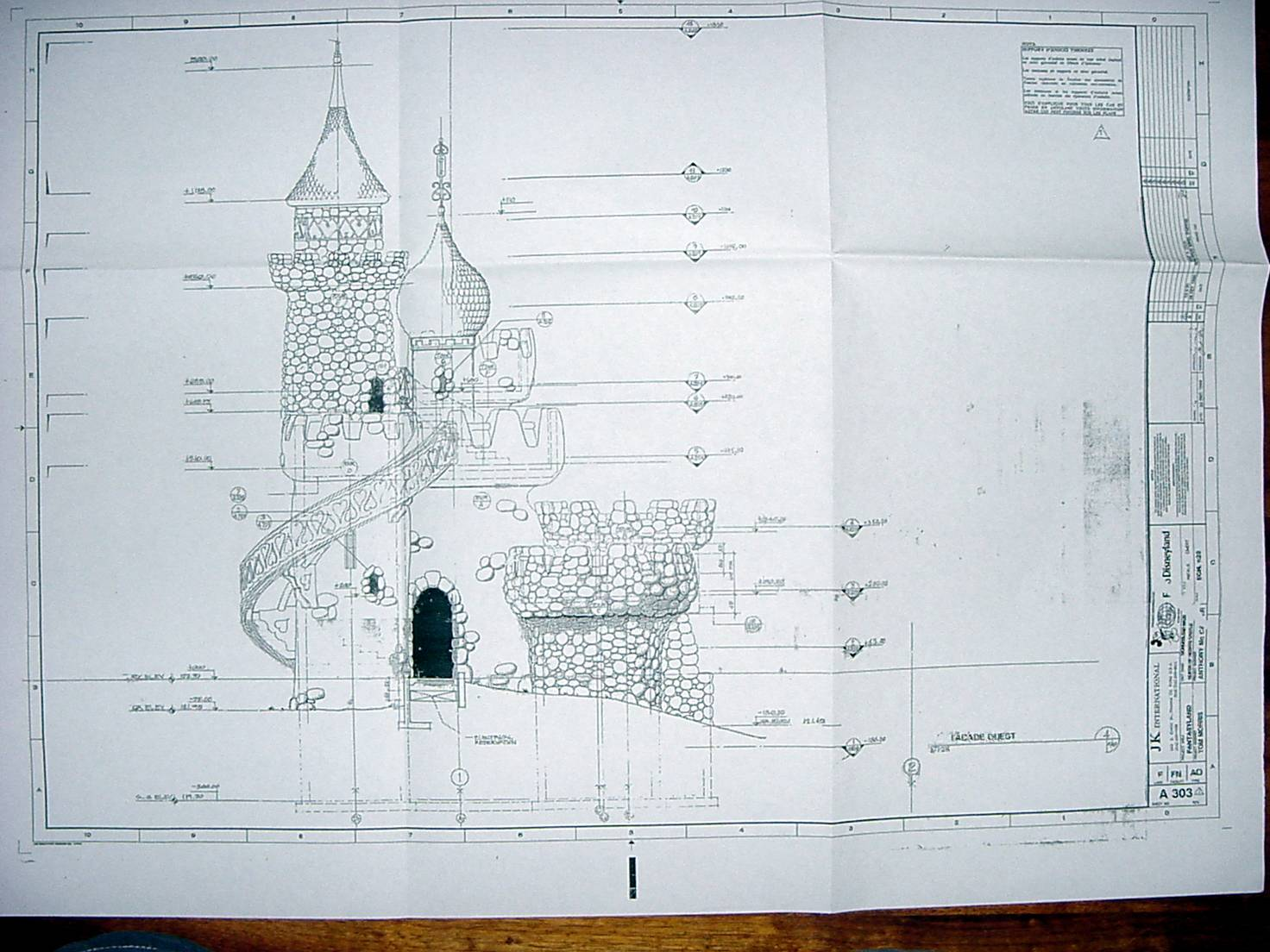 Cinderella Castle Blueprint Disneyland Paris Blueprints House Plans 11480