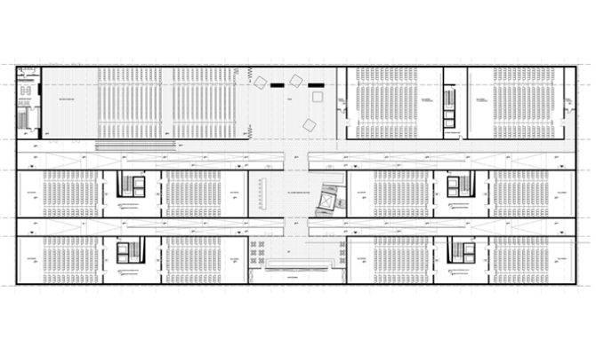 Cinema Multiplex Floor First Plan Architecture Plans