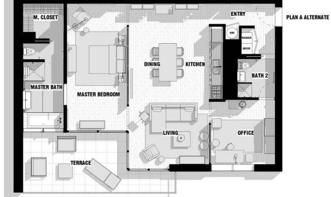 City Apartment Floor Plan Couples Interior Design Ideas