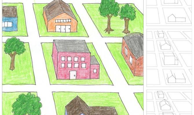 City Block One Point Perspective Drawing Art Projects