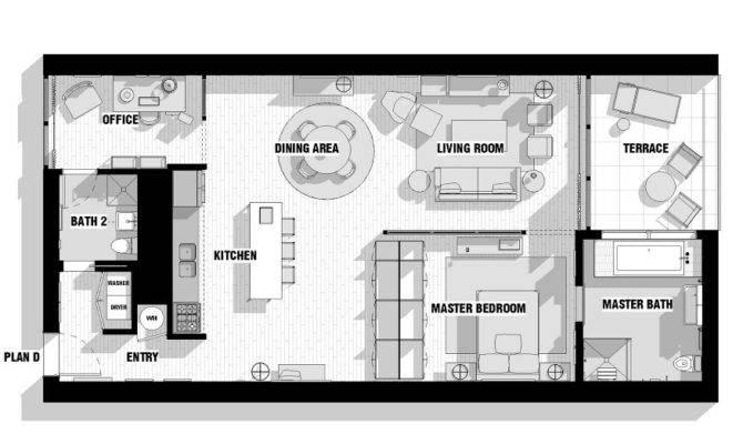 City Loft Floor Plan Interior Design Ideas