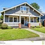 Clapboard Siding House Exterior Large Entance Porch Brick
