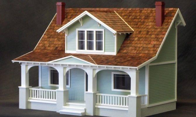 Classic Bungalow Dollhouse Kit Milled Mdf Dollhouses