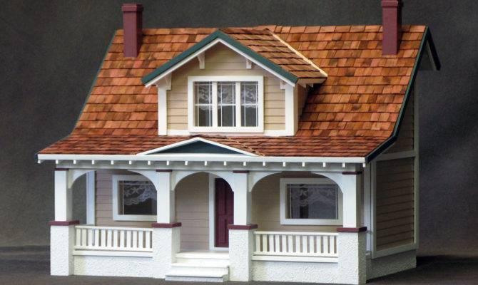 Classic Bungalow Dollhouse Kit Minimedollhouses