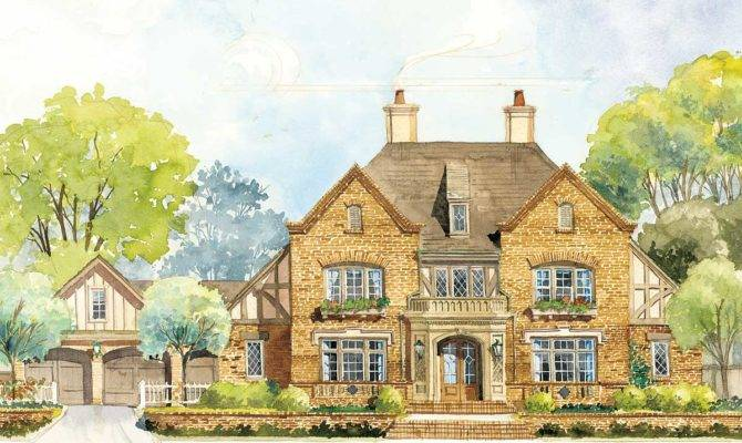 Classic English Country Home Plan Floor