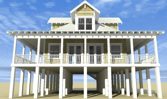 Classic Florida Cracker Beach House Plan