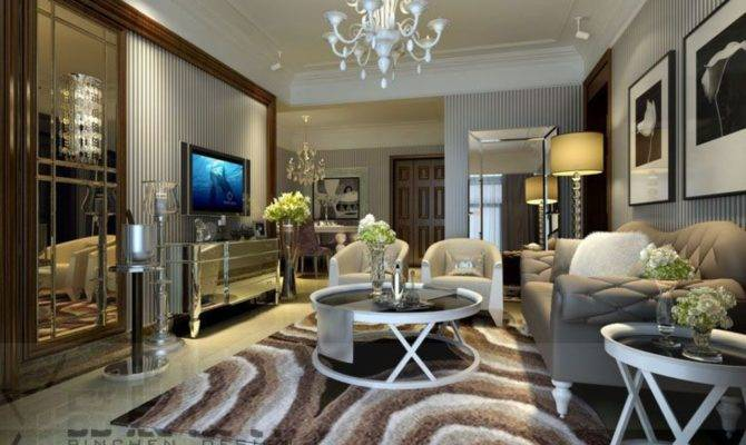 Classic Luxury Living Room Designs Striped