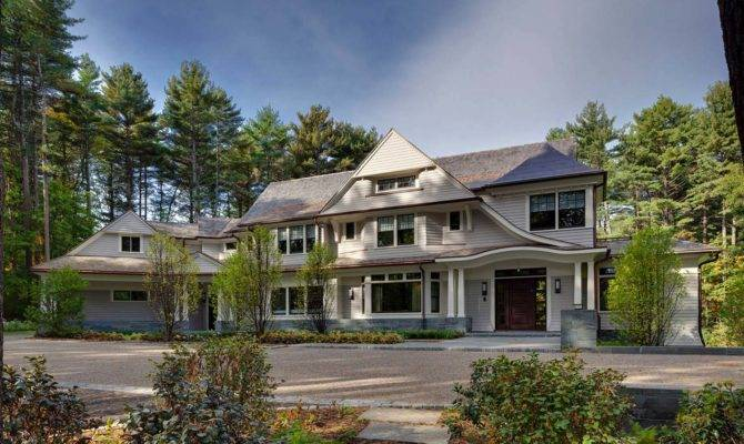 Classic New England Style Home Modern Design Elements