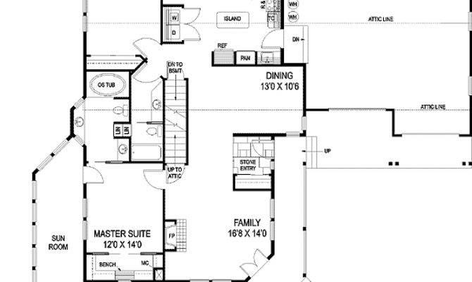 Classic Rambler Ranch Home Plan Floor